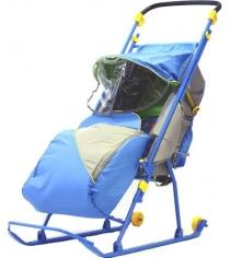 Детские санки коляска Papajoy Тимка Люкс