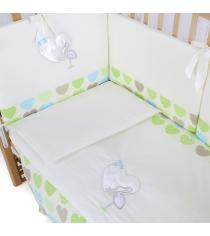 Комплект в кроватку 6 предметов Pituso Аист 120x60
