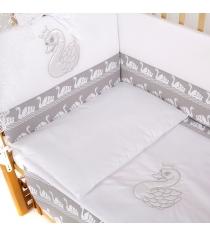 Комплект в кроватку 6 предметов Pituso Лебедь 120x60
