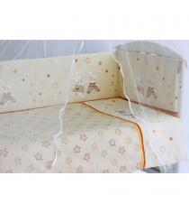 Комплект в кроватку 6 предметов Pituso Зайки 120x60