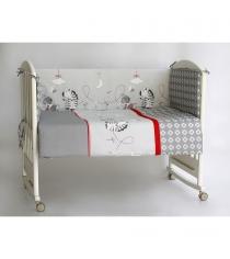 Комплект в кроватку 6 предметов Pituso Зебры 120x60