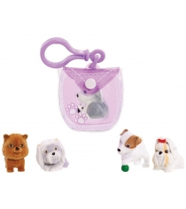 Брелок-сумочка Puppy In My Pocket с 5ю щенками фиолетовая 48180-V