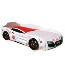 3D Kitty белый с колесами