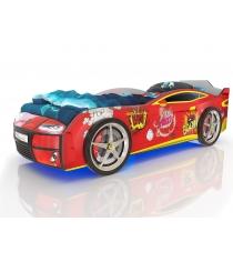3D Kiddy красный бум с подсветкой фар и дна