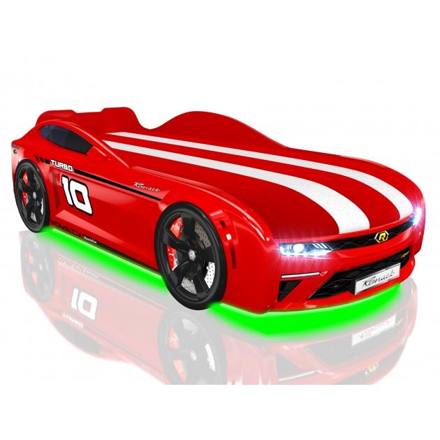 Кровать машина Energy Red с подъемным механизмом и подсветка