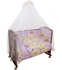 Комплект в кроватку 3 предмета Сонный гномик Мишкин сон 303 розовый