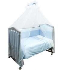 Комплект в кроватку 3 предмета Сонный гномик Пушистик голубой