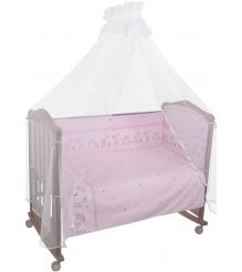 Комплект в кроватку 3 предмета Сонный гномик Оленята 327 розовый