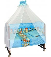 Комплект в кроватку 3 предмета Сонный гномик Африка 331 голубой