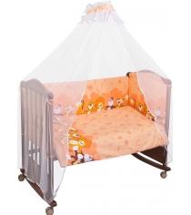 Комплект в кроватку 3 предмета Сонный гномик Африка 331 персиковый
