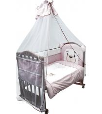 Комплект в кроватку 3 предмета Сонный гномик Умка 376 розовый