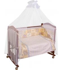 Комплект в кроватку 7 предметов Сонный гномик Считалочка 705 бежевый