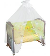 Комплект в кроватку 7 предметов Сонный гномик Сыроежкины сны 741 салатовый