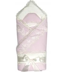 Конверт одеяло на выписку Сонный Гномик Бусинка 1720 розовый