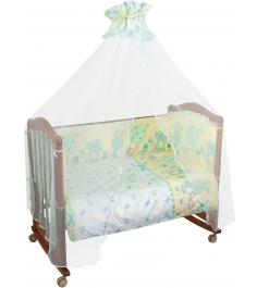 Бортик в кроватку Сонный Гномик Акварель 106 бирюзовый...
