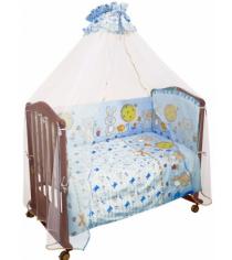 Бортик в кроватку Сонный Гномик Акварель 106 голубой
