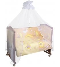 Бортик в кроватку Сонный Гномик Сыроежкины сны 141 бежевый