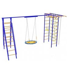 Детский игровой комплекс Капризун Дачник № 9 с качелями гнездом