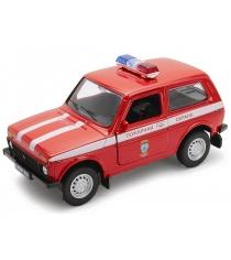 Модель машины Welly Lada 4x4 Пожарная Охрана 1:34-39 42386FS