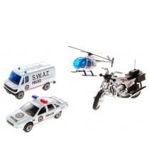 Игровой набор Welly Служба спасения - полиция 4 шт. 98630-4A