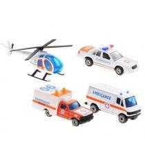 Игровой набор Welly Служба спасения - скорая помощь 4 шт. 98630-4B