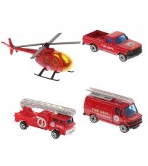 Игровой набор Welly Служба спасения - пожарная команда 4 шт. 98630-4C