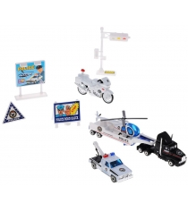Игровой набор Welly Служба спасения - полиция 9 шт. 98630-9A