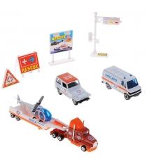 Игровой набор Welly Служба спасения - скорая помощь 9 шт. 98630-9B