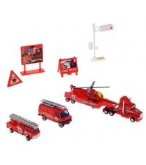 Игровой набор Welly Служба спасения - пожарная команда 9 шт. 98630-9C