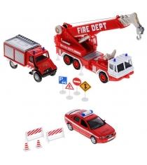 Набор машин Welly Пожарная служба 10 шт. 99610-10B