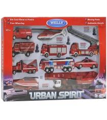 Набор машин Welly Пожарная служба 20 шт. 99610-20B