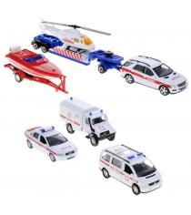 Набор машин Welly Служба спасения 6 шт. 99610-6C