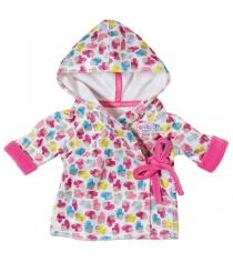 Одежда Zapf Baby born Халат с капюшоном 822-463