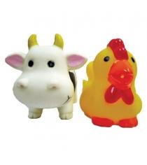Набор игрушек для ванны Жирафики Коровка и курочка 681268