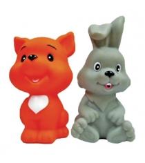 Набор игрушек для ванны Жирафики Лисенок и зайчонок 681269