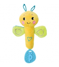 Пищалка с прорезывателем Жирафики Бабочка желто зеленая 939474