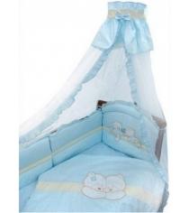 Комплект в кроватку 8 предметов Золотой Гусь Лапушки 1612 голубой