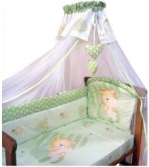 Комплект в кроватку 7 предметов Золотой Гусь Мишутка зеленый