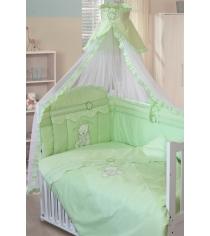 Комплект в кроватку 7 предметов Золотой Гусь Сабина зеленый