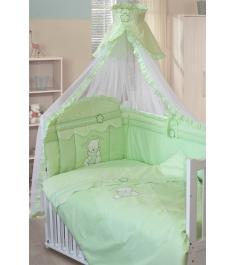 Комплект в кроватку 7 предметов Золотой Гусь Сабина зеленый...