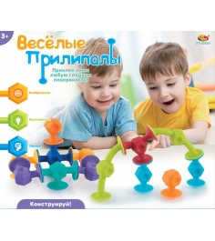 Мягкий конструктор с присосками веселые прилипалы ABtoys PT-00800...