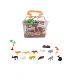 Набор из 10 фигурок В мире животных Дикие животные ABtoys PT-00826...