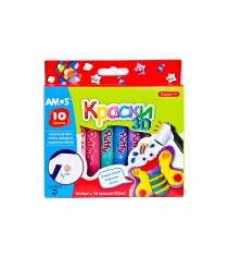 Краски объемные puffy Amos PUP-10P10