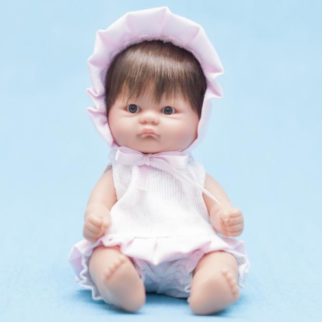 Кукла пупсик в розовом чепчике на завязочках 20 см Asi 112970