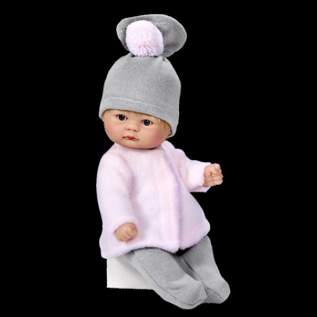 Кукла пупсик в серой шапочке 20 см Asi 114020