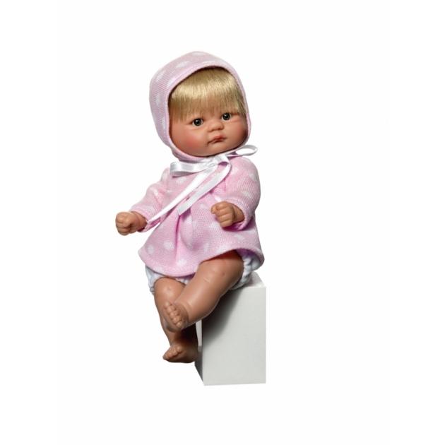 Кукла пупсик в розовом теплом платьице 20 см Asi 2113057