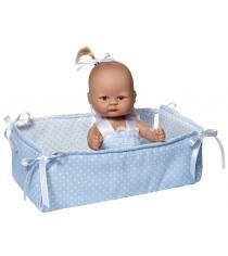 Кукла пупсик в голубом костюмчике с манежем 20 см Asi 2384058