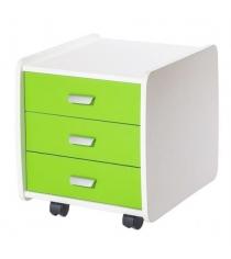 Тумба Астек Лидер 3 ящика с цветными фасадами зеленый