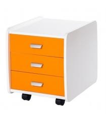 Тумба Астек Лидер 3 ящика с цветными фасадами оранжевый