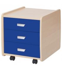 Тумба Астек Лидер 3 ящика береза синий